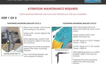 Tube Bumper Maintenance Instructions